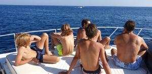 yacht dans le salento